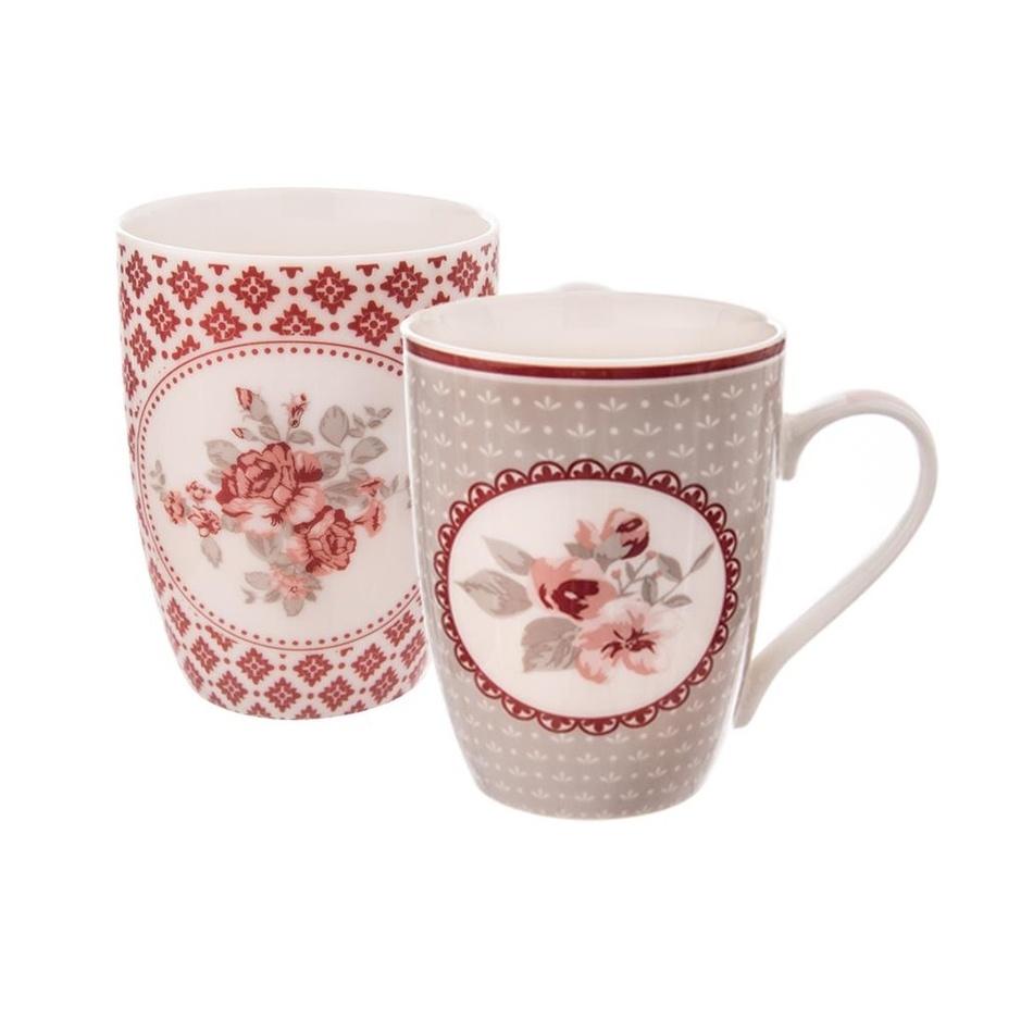Orion Dárková sada porcelánových hrnků Love Rose 350 ml, 2 ks