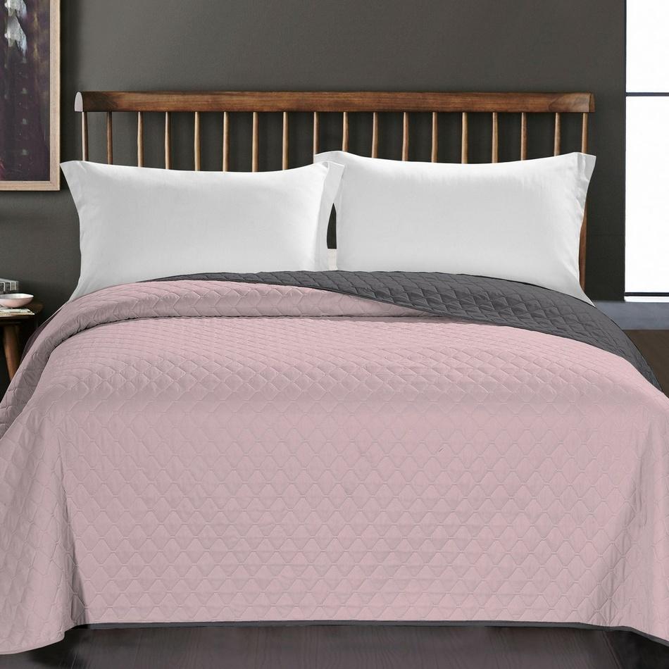 DecoKing Prehoz na posteľ Axel ružová, 220 x 240 cm