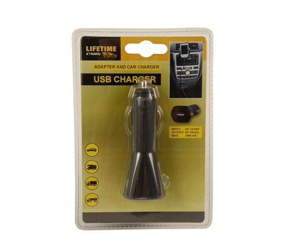 USB nabíjačka do auta čierna