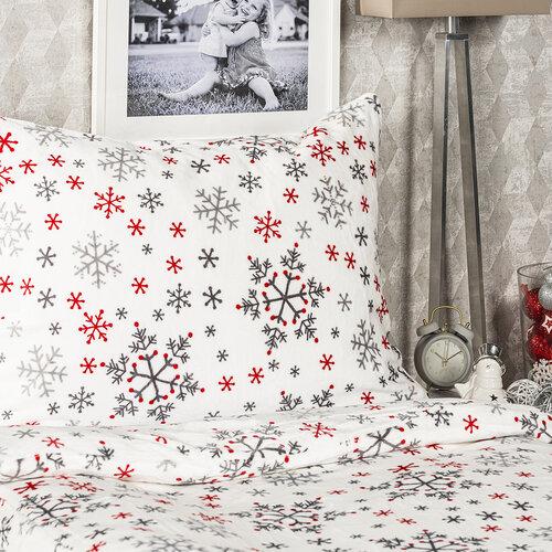 4Home obliečky mikroflanel Snowflakes, 160 x 200 cm, 2 ks 70 x 80 cm