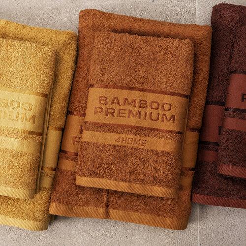 4Home Bamboo Premium ručník hnědá, 50 x 100 cm, sada 2 ks