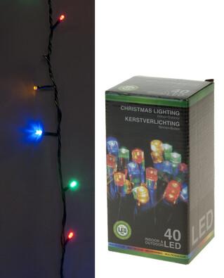 Vánoční světelný řetěz, 40 LED
