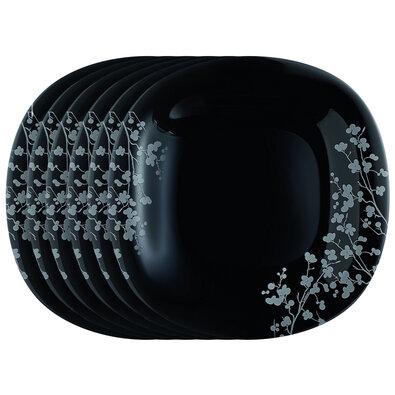Luminarc Sada mělkých talířů Ombrelle 27 cm, 6 ks, černá