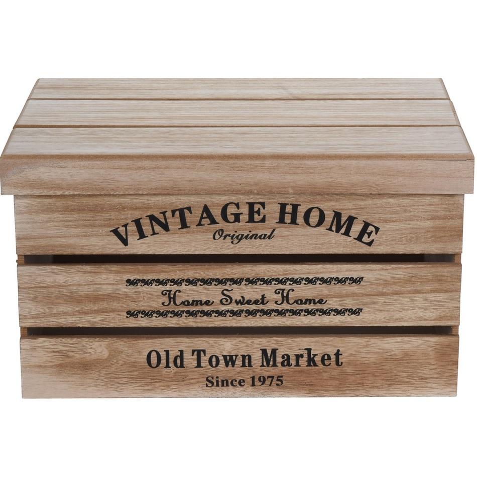 Koopman Sada dekoračních úložných boxů Old Town Market, 3 ks