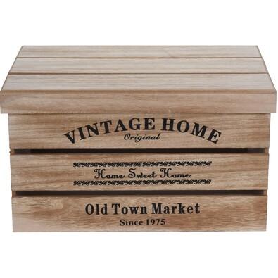 Sada dekoračných úložných boxov Old Town Market, 3 ks