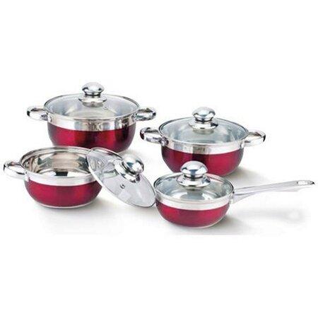 Banquet MAESTRO ROSSO 8dílná sada nádobí červená