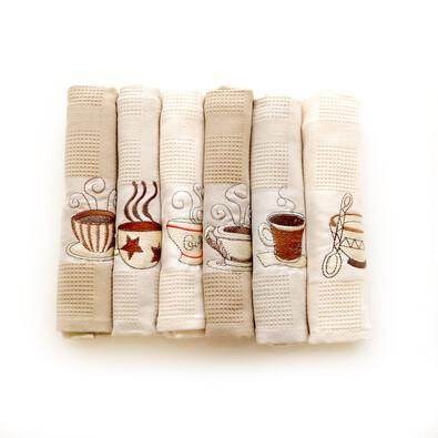 Kuchyňské utěrky Coffee, 50 x 70  cm, sada 6 ks