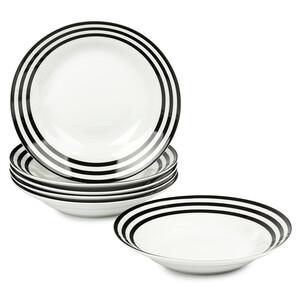 6dílná sada hlubokých talířů Černé kruhy