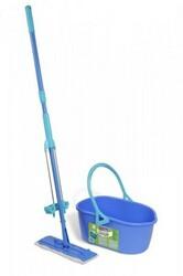 Sada kbelík a mop Quickmax se samoždímacím systéme, modrá