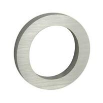Aluminiowy numer domu 0, 3D, pow. szlifowana