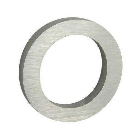 Hliníkové domovní číslo 0, 3D broušený  povrch