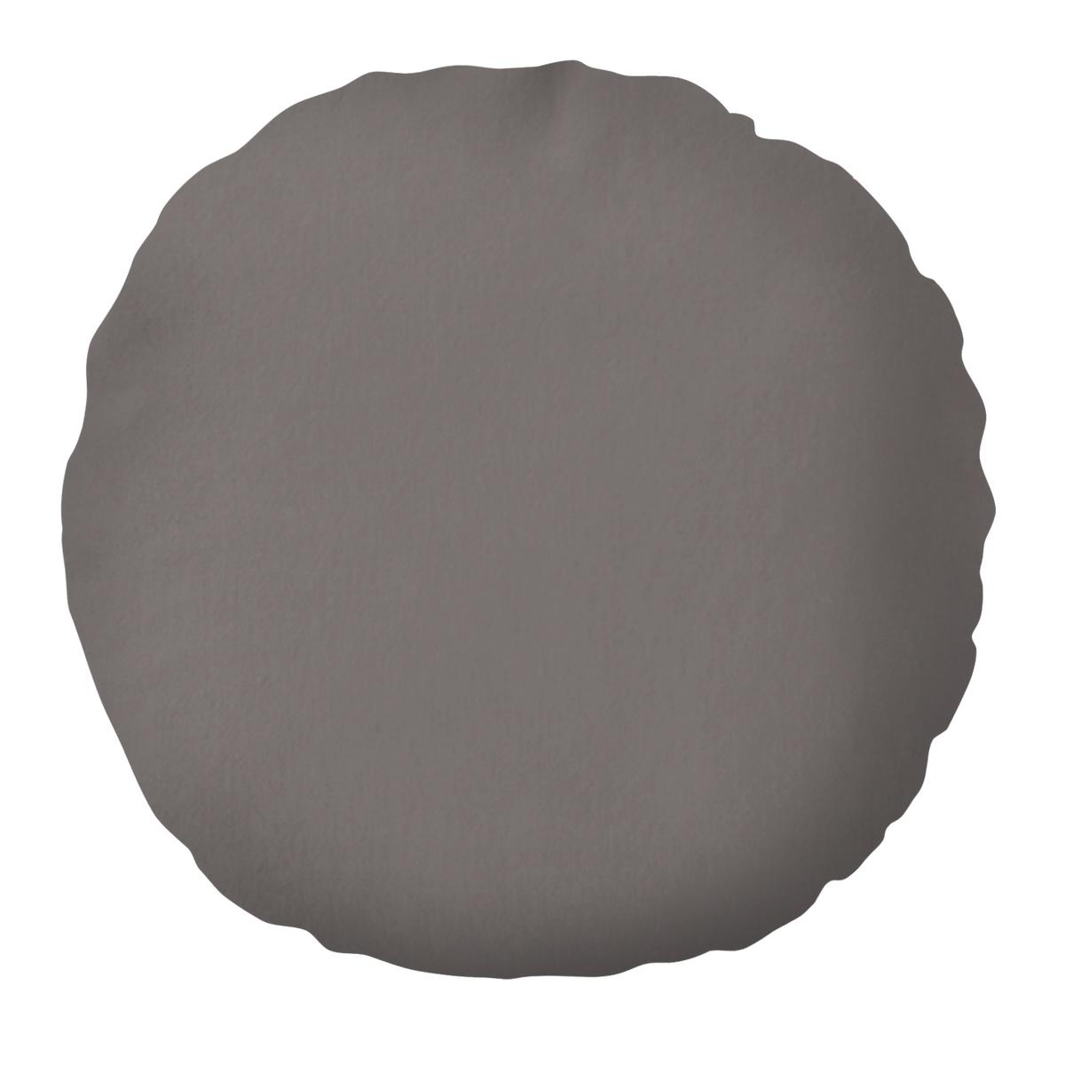 Domarex Polštář kulatý Velvet šedá, 50 cm
