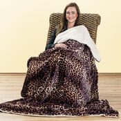 4Home beránková deka Leopard, 150 x 200 cm