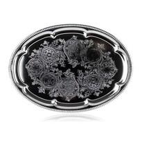 Banquet Akcent szervírozó tálca, 40,5 x 29 cm, rozsdamentes acél