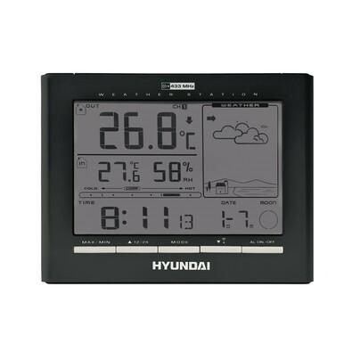 Meteostanice Hyundai WSC 2180, černá, černá