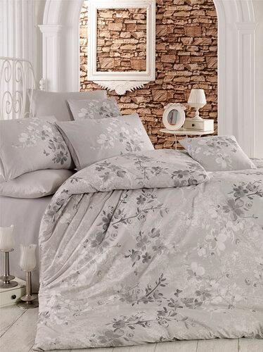 Homeville Povlečení Elena grey bavlna, 220 x 200 cm, 2 ks 70 x 90 cm
