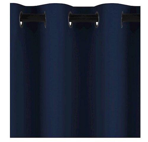 AmeliaHome Draperie Blackout EYELETS indigo, 140 x 245 cm