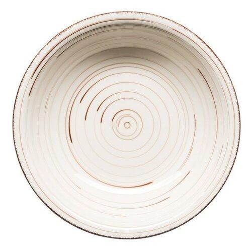 Mäser Keramický hluboký talíř Bel Tempo 21,5 cm, béžová