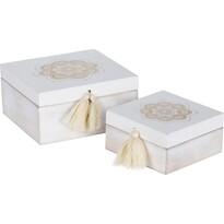 Sada dekoračních boxů Ornamento square, 2 ks
