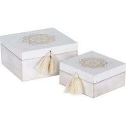 Sada dekoračných boxov Ornamento square, 2 ks