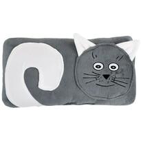 Poduszka Kotek szary, 45 x 30 cm