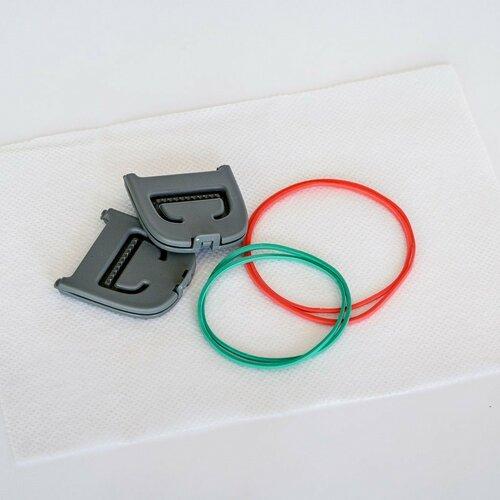 Plastia Chytrý klip pre rúška červená L