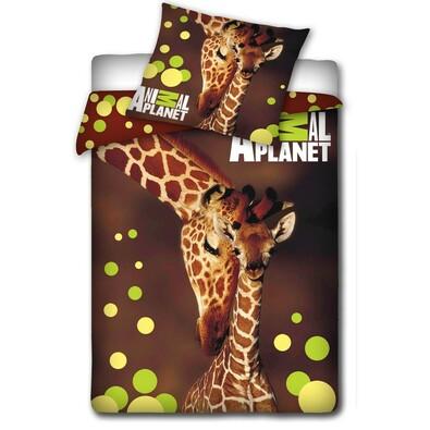 Bavlněné povlečení Animal Planet - Žirafy, 140 x 200 cm, 70 x 80 cm