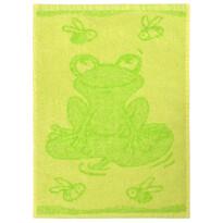 Ręcznik dziecięcy Frog green, 30 x 50 cm