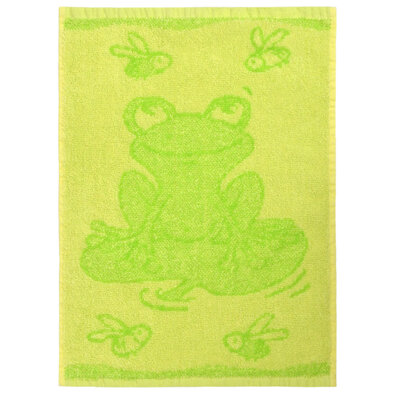Frog green gyermek törölköző, 30 x 50 cm