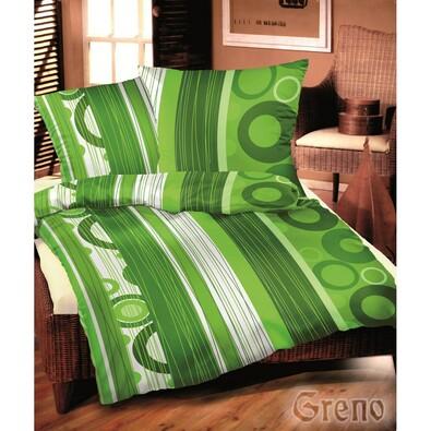 Saténové povlečení Srdečná zelená, 140 x 200 cm, 70 x 90 cm