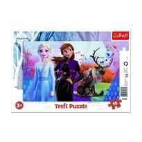 Trefl Puzzle Ľadové kráľovstvo 2 - Magický svet Anny a Elsy, 15 dielikov
