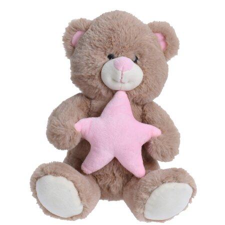 Plyšový medvídek s hvězdou, 23 cm