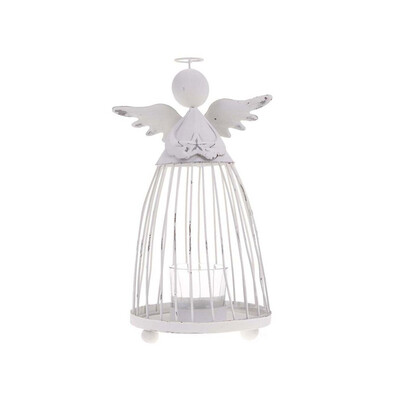 Drátěný anděl se stojanem na svíčku