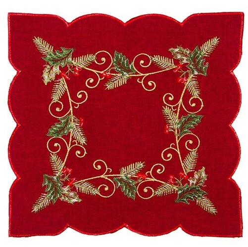 Forbyt Vánoční ubrus Cesmína červená, 35 x 35 cm, 35 x 35 cm