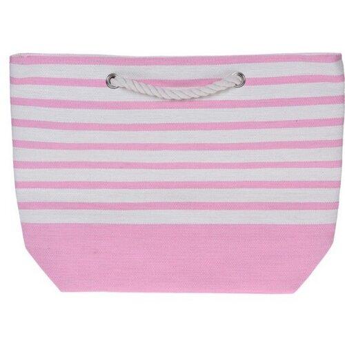 Geantă de plajă Stripes 52 x 38 cm, roz imagine 2021 e4home.ro