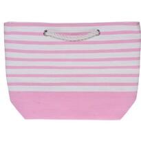 Stripes strandtáska, 52 x 38 cm, rózsaszín