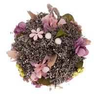 Glob suspendat, cu flori artificiale Leerdam,diam. 14 cm