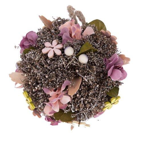 Závesná guľa s umelými kvetinami Leerdam, pr. 14 cm