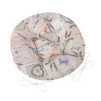 Bellatex Siedzisko okrągłe Ema Patchwork lawenda, 40 cm