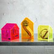 Úložný box Dům Benedikte 10,7 cm, žlutý
