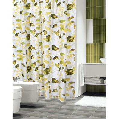 Sprchový závěs Rostliny zelená, 180 x 200 cm