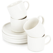 Mäser VADA porceláncsésze készlet csészealjjal, 200 ml, 4 db