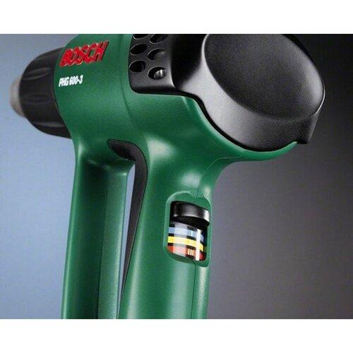 Horkovzdušná pistole Bosch PHG 600-3, zelená