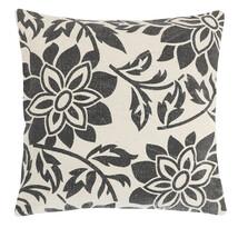 Poszewka na poduszkę Paula Kwiat szary, 45 x 45 cm