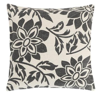 Povlak na polštářek Paula Květ šedá, 45 x 45 cm