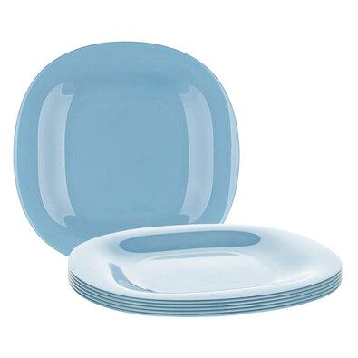 Farfurie întinsă dreptunghiulară Luminarc CARINE, 27 cm, 6 buc., albastru