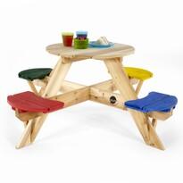 Plum Drevený piknikový stôl so stoličkami, 120 x 120 x 50 cm
