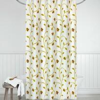 Zasłona łazienkowa Rośliny beżowy, 180 x 200 cm