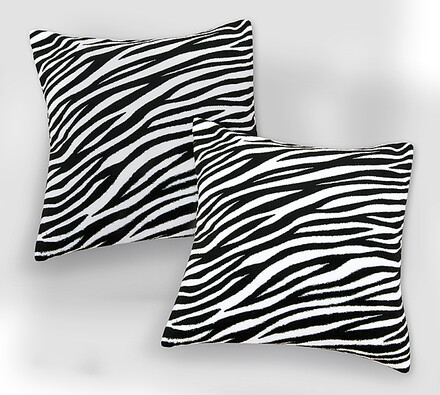 Sada 2 ks povlaků na polštářky Zebra