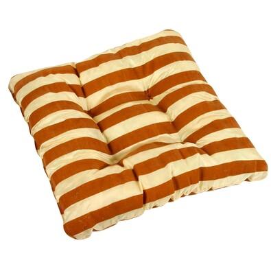 Sedák Leona pruhy oranžová, 40 x 40 cm